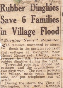 ..during the storm the Vicar of Bovingdon, died suddenly..