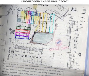 2-18 Granville Dene, Land Registry drawing